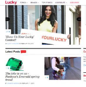 Lucky mag post  Feb 2013